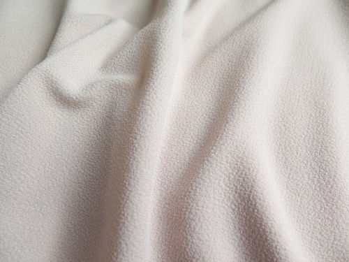 Crepe polyester gaufré nude